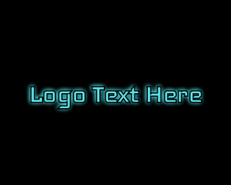 Virus - Tech Blue Glow logo design