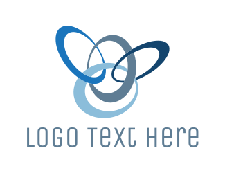 Frisbee - Blue Rings logo design