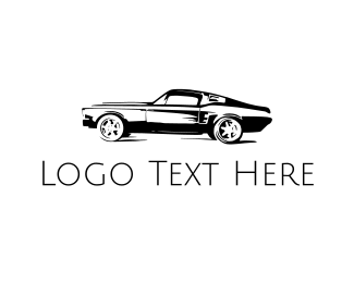 Vehicle - Vintage Black Car logo design