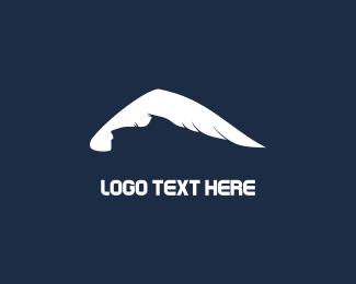 Glacier - White Mountain & Wings logo design