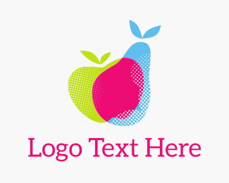 Produce - Fresh Fruit RGB logo design