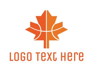 Maple Leaf - Canadian Basketball logo design