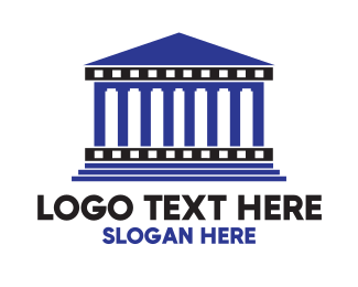 Greek - Blue Greek Temple logo design