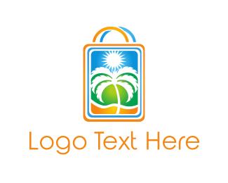 Supermarket - Palm Shop logo design