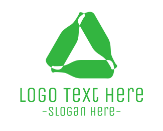 Recycling - Bottles Cycle logo design