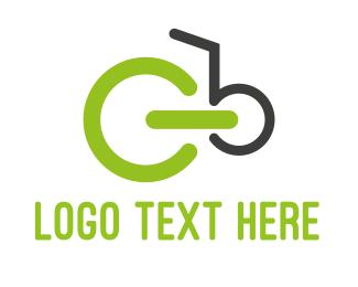 Ride - Green Bicycle logo design
