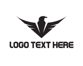 Emblem - Eagle Wings logo design