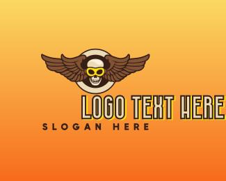 Specs - Goggle Skull Wing logo design