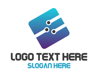Computing - Tech Letter E logo design