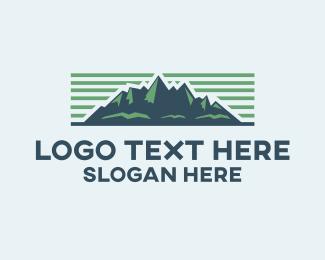 Fjord - Mountain Landscape logo design