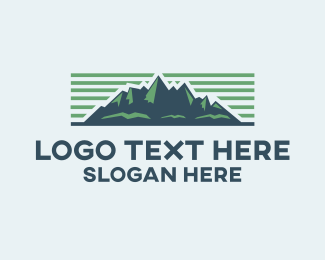 Outdoor - Mountain Landscape logo design