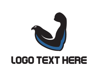 Gymnasium - Eagle & Muscles logo design