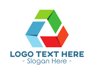 """Recycling Triangle"" by LogoBrainstorm"