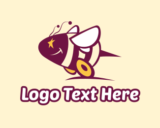 Go Kart - Bee Wheels logo design