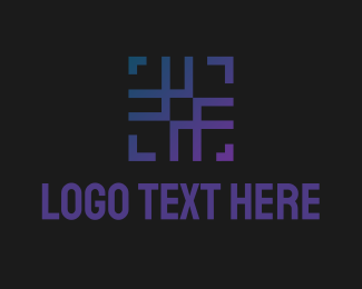 Unique - Abstract Hashtag Square logo design