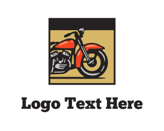 Bike - Red Motorcycle logo design
