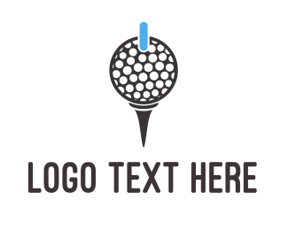 Putt - Power Golf logo design