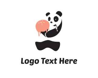 Frozen - Drooling Panda logo design