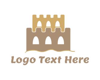 Sand - Sand Castle logo design