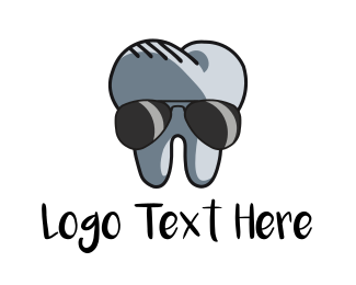 Gray - Cool Tooth logo design
