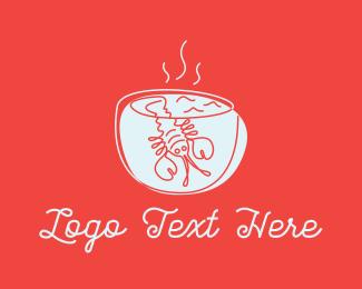 Bowl - Lobster Soup logo design