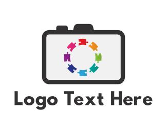 Photography - Puzzle Camera logo design