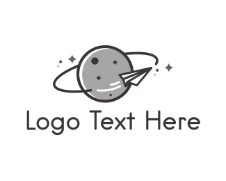 Asteroid - Paper Rocket logo design