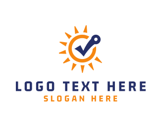 Solar Panel - Sun Check logo design