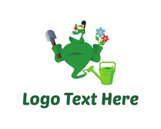 Yard - Gardener Genie Cartoon logo design