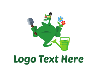Yard - Gardener Genie Cartoon logo design