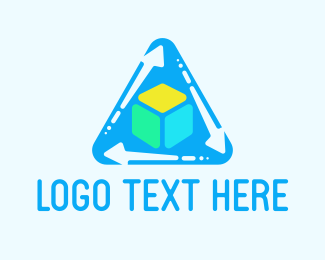 Export - Cube & Triangle logo design