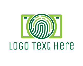 Identification - Fingerprint Camera logo design