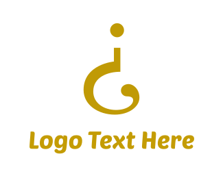 Exclamation Mark - Golden Question logo design