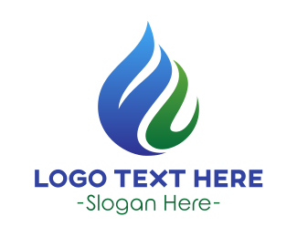 Steam - Water & Plant  logo design