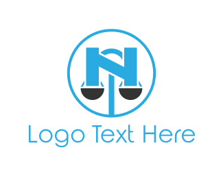 Fair - Scale Letter N logo design