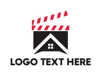 Director - Clapper Board House logo design