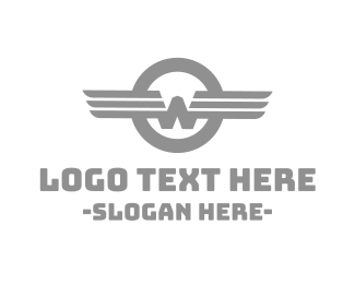 Airforce - Vintage W Wing logo design