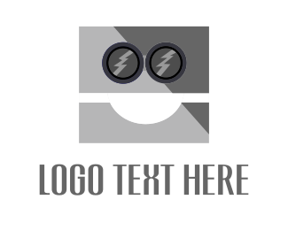 Metallic - Robot Face  logo design