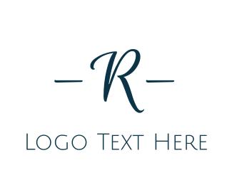 Jewelry Store - Elegant Blue R logo design