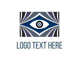 Curtains - Blue Eye logo design