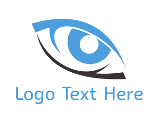 Visual - Black & Blue Eye logo design