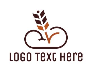 Upload - Brown Arrow Cloud logo design