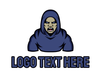 Twitch - Angry Hood Guy logo design