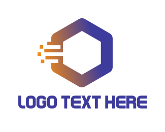 Bitmap - Fast Hexagon logo design