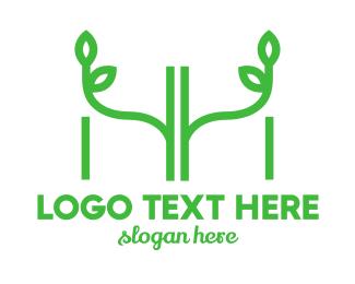 Vegetarian - H & H logo design