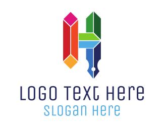 Pencil - Diamonds & Quill logo design