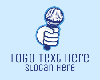 Podcast - Karaoke Microphone logo design