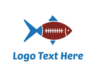 Football - Fish Football logo design