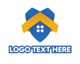 Home - Blue House Shield logo design