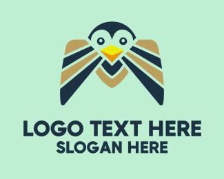 Penguin - Happy Penguin  logo design